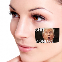 American President Trump Funny Shit Monday Ridiculous Angry White-collar Worker Meme Image Temporary Tattoos Waterproof Tattoo Party Use Facial Decoration