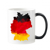 Germany National Flag Map Country Graffiti Illustration Pattern Morphing Heat Sensitive Changing Color Mug Cup Milk Coffee With Handles 350 ml