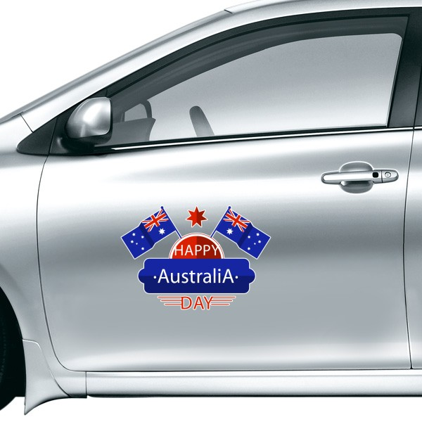 Australia flavor happy australia day flag and star illustration car sticker on car styling decal motorcycle stickers for car accessories