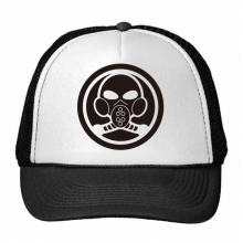 Air Pollution White Black For The Future Gas Mask Symbol Pattern Trucker Hat Baseball Cap Nylon Mesh Hat Cool Children Hat Adjustable Cap
