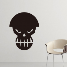 Angry Pollution Human Skeleton Helmet Gas Mask Silhouette Pattern Silhouette  Removable Wall Sticker Art Decals Mural DIY Wallpaper for Room Decal