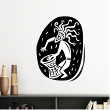 Abstract Ancient Egypt Pharaoh Decorative Pattern Sacrifice Art Silhouette Silhouette  Removable Wall Sticker Art Decals Mural DIY Wallpaper for Room Decal