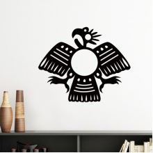 Ancient Egypt Pharaoh Abstract Decorative Pattern Sacrifice Eagle Art Silhouette Silhouette  Removable Wall Sticker Art Decals Mural DIY Wallpaper for Room Decal