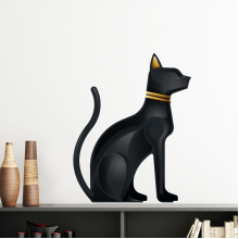 Ancient Egypt Abstract Decorative Pattern Sacrifice Black Cat Bast Bastet Art Pattern Removable Wall Sticker Art Decals Mural DIY Wallpaper for Room Decal