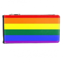 LGBT Rainbow Gay Lesbian Transgender Bisexuals Support Flag Illustration Multi-Card Faux Leather Rectangle Wallet Card Purse