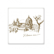 Florence Cathedral Italy Florence Landmark Pattern Ceramic Bisque Tiles for Decorating Bathroom Decor Kitchen Ceramic Tiles Wall Tiles