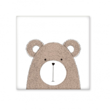 Simplicity Style Chubby Bear Cute Animal Illustration Ceramic Bisque Tiles for Decorating Bathroom Decor Kitchen Ceramic Tiles Wall Tiles