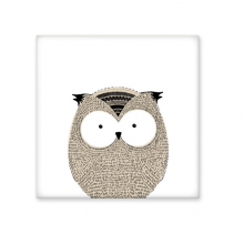 Simplicity Style Chubby Owl Cute Animal Illustration Ceramic Bisque Tiles for Decorating Bathroom Decor Kitchen Ceramic Tiles Wall Tiles