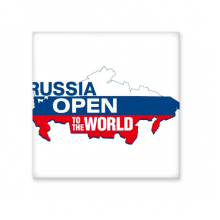Russia Open To The World Flag Map Ceramic Bisque Tiles for Decorating Bathroom Decor Kitchen Ceramic Tiles Wall Tiles