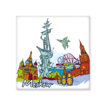 Moscow Landmark Painting Pattern Illustration Saint Basil's Cathedral Ceramic Bisque Tiles for Decorating Bathroom Decor Kitchen Ceramic Tiles Wall Tiles