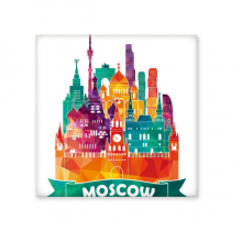 Moscow Cathedral Painting Pattern Illustration Ceramic Bisque Tiles for Decorating Bathroom Decor Kitchen Ceramic Tiles Wall Tiles