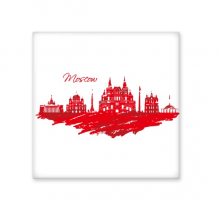 Moscow Landmark Red Cathedral Pattern Hand Painting Illustration Ceramic Bisque Tiles for Decorating Bathroom Decor Kitchen Ceramic Tiles Wall Tiles