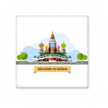 Russia Cathedral Pattern Illustration Ceramic Bisque Tiles for Decorating Bathroom Decor Kitchen Ceramic Tiles Wall Tiles