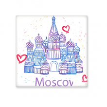 I Love Moscow Cathedral Illustration Heart With Saint Basil's Cathedral Ceramic Bisque Tiles for Decorating Bathroom Decor Kitchen Ceramic Tiles Wall Tiles