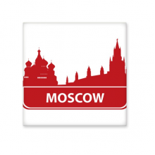 Moscow Russia Red Landmark Pattern Ceramic Bisque Tiles for Decorating Bathroom Decor Kitchen Ceramic Tiles Wall Tiles