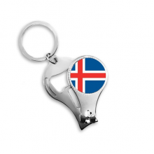 Iceland National Flag Europe Country Symbol Mark Pattern Nail Clipper Ring Key Chain