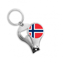 Norway National Flag Europe Country Symbol Mark Pattern Nail Clipper Ring Key Chain