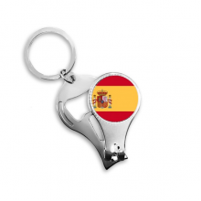 Spain National Flag Europe Country Symbol Mark Pattern Metal Key Chain Ring Multi-function Nail Clippers Bottle Opener Car Keychain Best Charm Gift