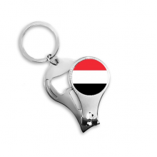Yemen National Flag Asia Country Symbol Mark Pattern Metal Key Chain Ring Multi-function Nail Clippers Bottle Opener Car Keychain Best Charm Gift