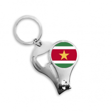Suriname National Flag South America Country Symbol Mark Pattern Nail Clipper Ring Key Chain