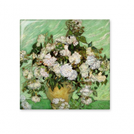 White rose Vincent Willem van Gogh famous oil paintings impressionist school Ceramic Bisque Tiles for Decorating Bathroom Decor Kitchen Ceramic Tiles Wall Tiles