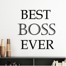 Best Boss Ever Office Worker Words Quotes Creative Design Silhouette  Removable Wall Sticker Art Decals Mural DIY Wallpaper for Room Decal