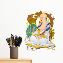 Buddhism Religion Buddhist Eighteen Arhats Figure Illustration Pattern Removable Wall Sticker Art Decals Mural DIY Wallpaper for Room Decal