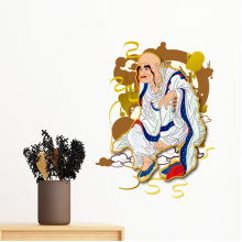Buddhism Buddhist Religion Eighteen Arhats Figure Illustration Pattern Removable Wall Sticker Art Decals Mural DIY Wallpaper for Room Decal