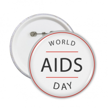 1st December World AIDS Day HIV Awareness Solidarity Symbol Round Pins Badge Button Clothing Decoration Gift 5pcs