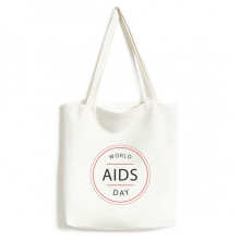 1st December World AIDS Day HIV Awareness Solidarity Symbol Fashionable Design High Quality Canvas Bag Environmentally Tote Large Gift Capacity Shopping Bags