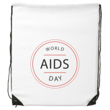1st December World AIDS Day HIV Awareness Solidarity Symbol Drawstring Backpack Fine Lines Shopping Creative Handbag Shoulder Environmental Polyester Bag