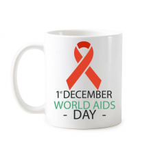 1st December World AIDS Day HIV Solidarity Awareness Symbol Classic Mug White Pottery Ceramic Cup Gift Milk Coffee With Handles 350 ml