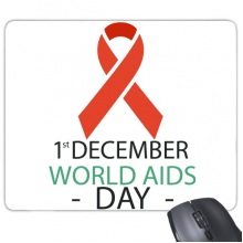 1st December World AIDS Day HIV Solidarity Awareness Symbol Rectangle Non-Slip Rubber Mousepad Game Mouse Pad Gift