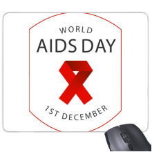 1st December Red Ribbon World AIDS Day HIV Awareness Solidarity Symbol Rectangle Non-Slip Rubber Mousepad Game Mouse Pad Gift