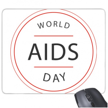 1st December World AIDS Day HIV Awareness Solidarity Symbol Rectangle Non-Slip Rubber Mousepad Game Mouse Pad Gift