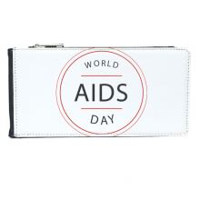 1st December World AIDS Day HIV Awareness Solidarity Symbol Multi-Card Faux Leather Rectangle Wallet Card Purse Gift