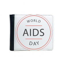 1st December World AIDS Day HIV Awareness Solidarity Symbol Flip Bifold Faux Leather Wallet  Multi-Function Card Purse Gift
