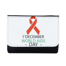 1st December World AIDS Day HIV Solidarity Awareness Symbol Multi-Function Faux Leather Wallet Card Purse Gift