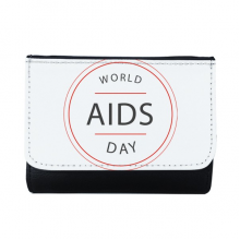1st December World AIDS Day HIV Awareness Solidarity Symbol Multi-Function Faux Leather Wallet Card Purse Gift
