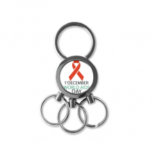 1st December World AIDS Day HIV Solidarity Awareness Symbol Metal Key Chain Ring Car Keychain Creative Trinket Keyring Novelty Item Best Charm Gift