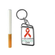 1st December World AIDS Day HIV Solidarity Awareness Symbol Cigarette Lighter USB Electric Arc Metal Flameless Rechargeable Windproof Lighter Elegant Gift Box