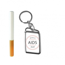 1st December World AIDS Day HIV Awareness Solidarity Symbol Cigarette Lighter USB Electric Arc Metal Flameless Rechargeable Windproof Lighter Elegant Gift Box