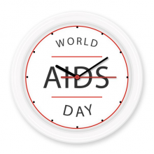1st December World AIDS Day HIV Awareness Solidarity Symbol Silent Non-ticking Round Wall Decorative Clock Battery-operated Clocks Home Decal