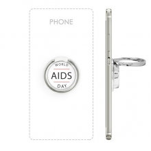 1st December World AIDS Day HIV Awareness Solidarity Symbol Metal Rotation Ring Stand Holder Bracket for Smartphones Cell Phone Support Accessories Gift
