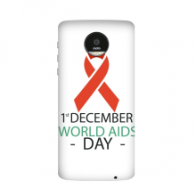 1st December World AIDS Day HIV Solidarity Awareness Symbol Motorola Moto Z / Z Force / Z2 Force Droid Magnetic Mods Phonecase Style Mod Gift