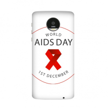 1st December Red Ribbon World AIDS Day HIV Awareness Solidarity Symbol Motorola Moto Z /Z Force Droid Magnetic Mods Phonecase Style Mod Gift