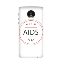 1st December World AIDS Day HIV Awareness Solidarity Symbol Motorola Moto Z / Z Force / Z2 Force Droid Magnetic Mods Phonecase Style Mod Gift