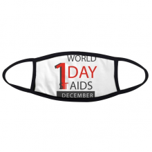 1st December World AIDS Day Solidarity HIV Awareness Symbol Face Anti-dust Mask Anti Cold Maske Gift