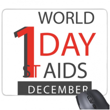 1st December World AIDS Day Solidarity HIV Awareness Symbol Rectangle Non-Slip Rubber Mousepad Game Mouse Pad Gift