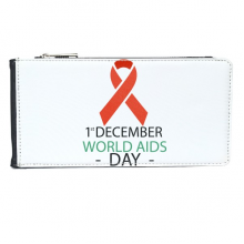 1st December World AIDS Day HIV Solidarity Awareness Symbol Multi-Card Faux Leather Rectangle Wallet Card Purse Gift